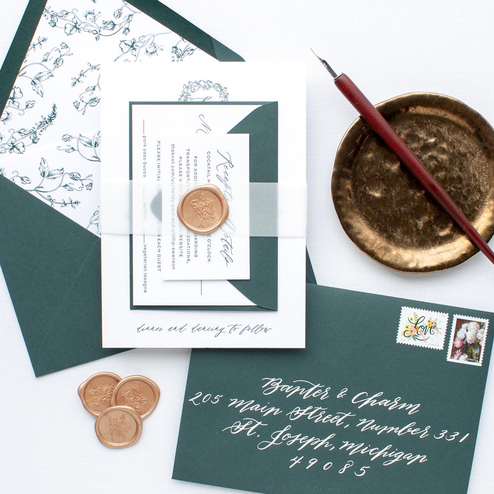 Journeman Distillery wedding invitations