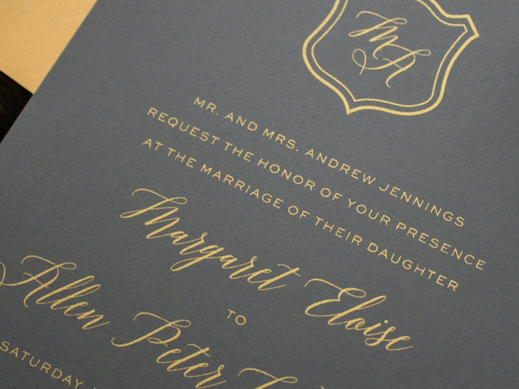 metallic gold silk screen printing