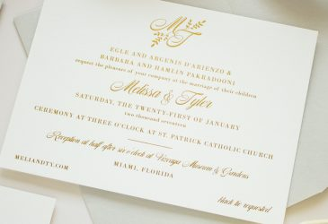 gold foil monogram