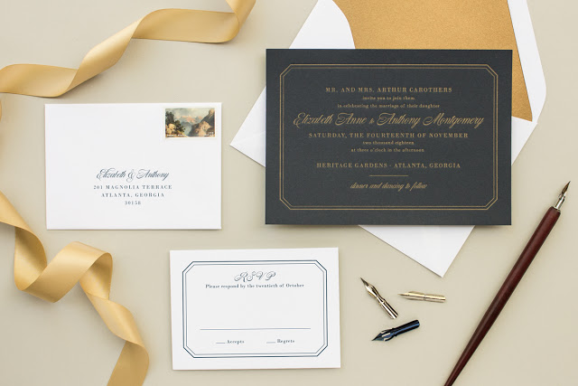 wedding invitations with envelope liners