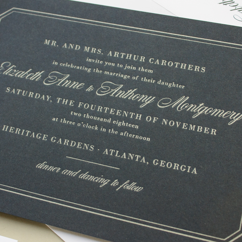 silver and navy nautical invitations