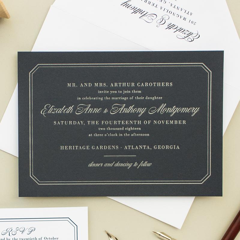 ... Formal Wedding Invitations ...