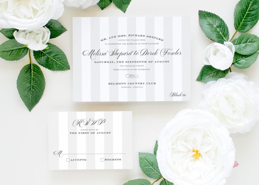 neutral color wedding invitations