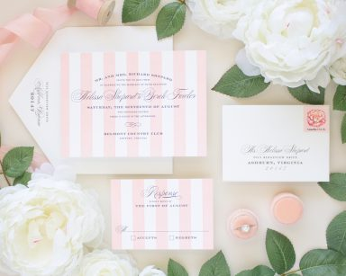 Debonair | Elegant Letterpress Stripes Invitation