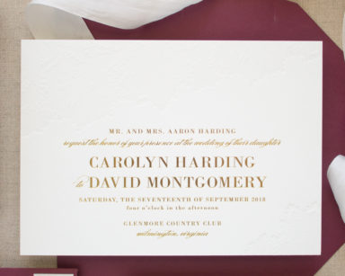 Gold Foil Stamped Wedding Invitations | Delicate