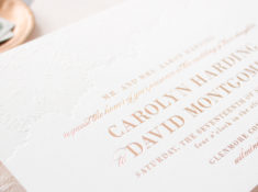 blind letterpress with foil stamping
