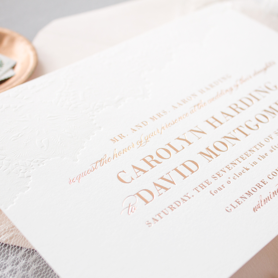 foil wedding invitations