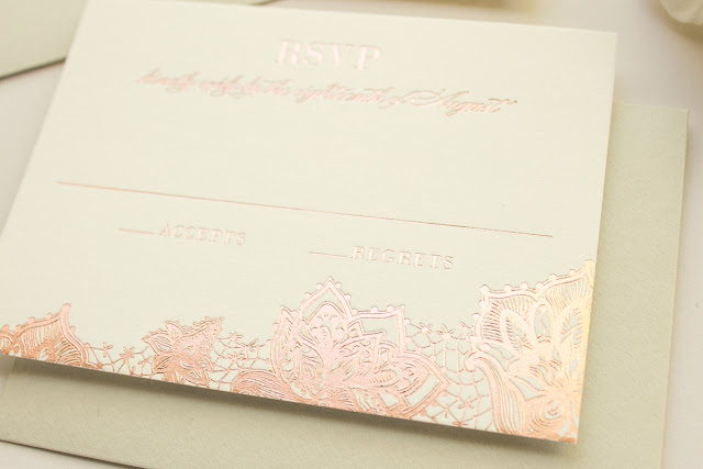 rose gold foil weddings