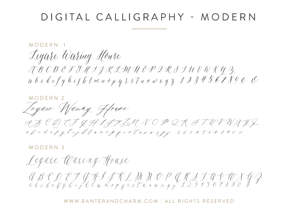 modern calligraphy fonts for invitations