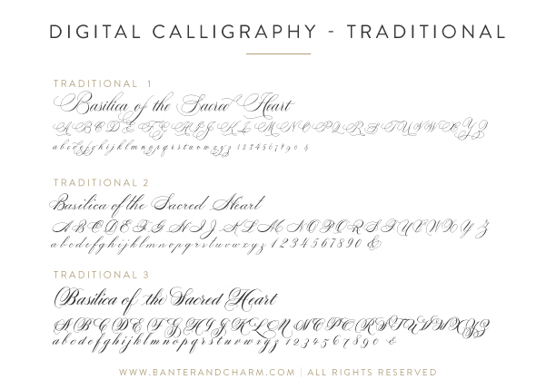 digital calligraphy fonts for wedding invitations