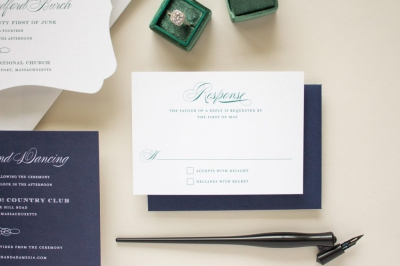 preppy navy and green suite