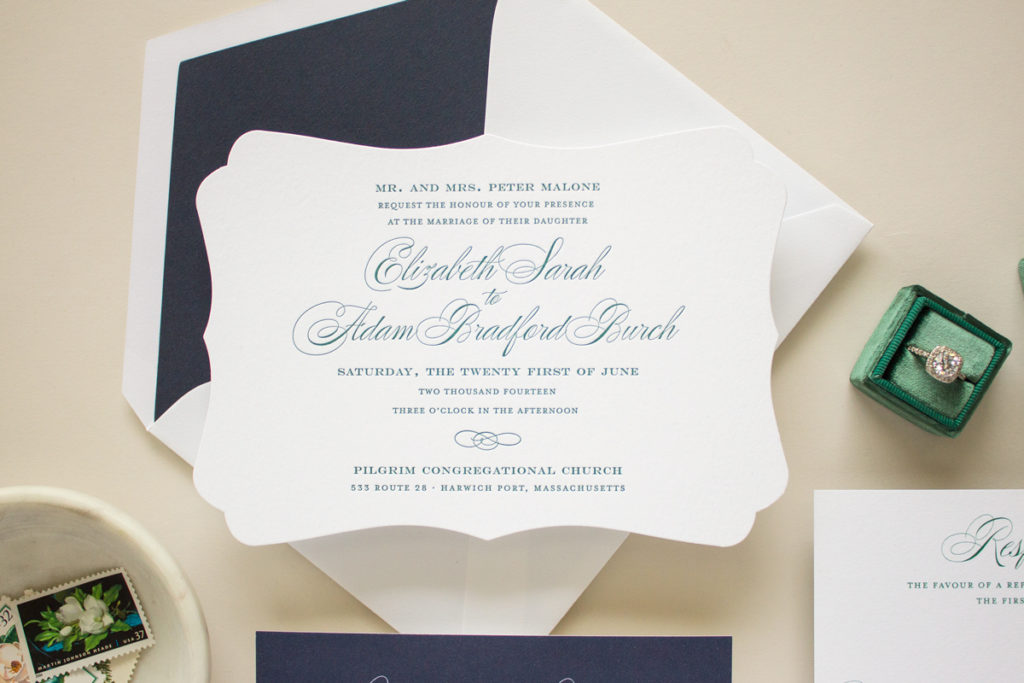 typographic letterpress invitations