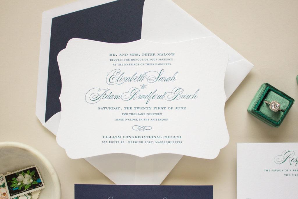 typographic letterpress invitations