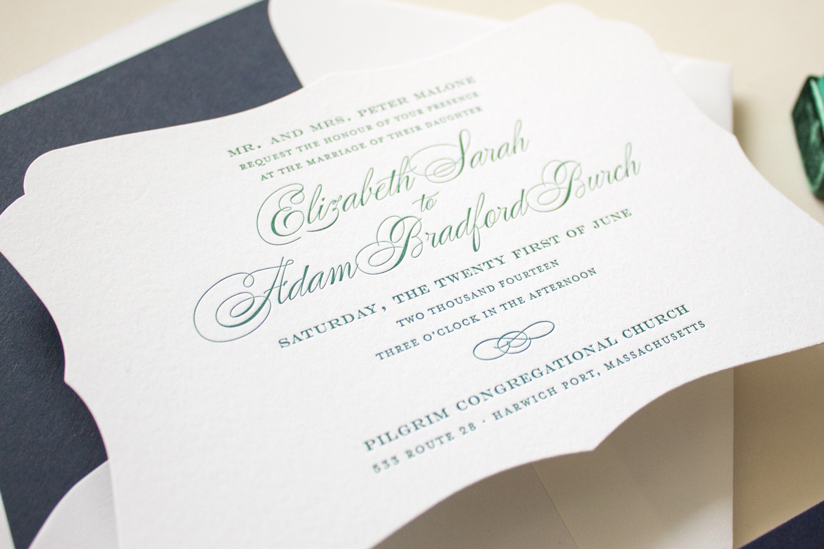 custom die cut invitation