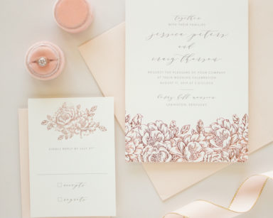 Romantic Wedding Invitation in Foil | Enchanted