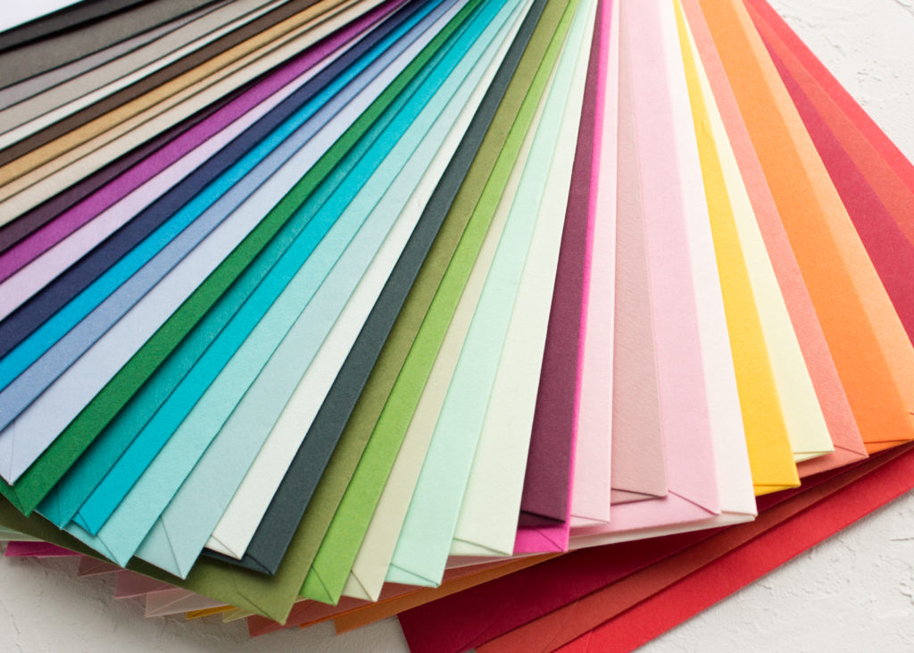 colored envelopes for wedding invitations