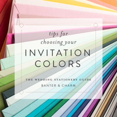 tips for choosing your invitation colors