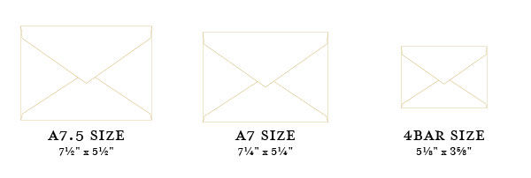 wedding stationery guide sizing and shapes banter and charm
