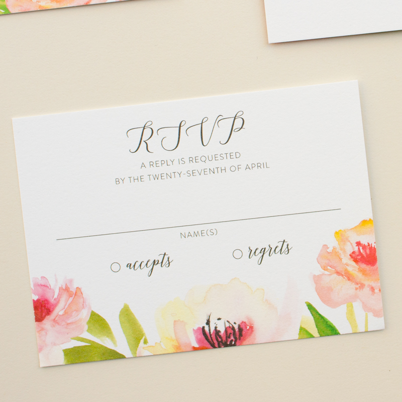 wedding invitation reply card