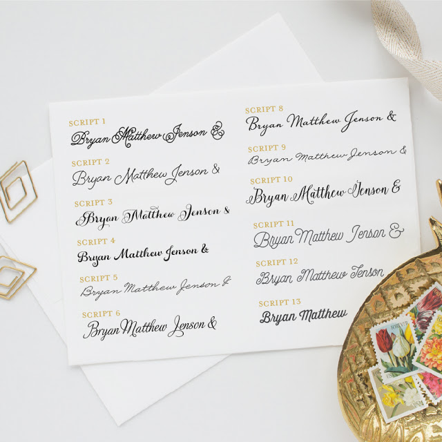 Wedding Stationery Guide: Fonts, Part III