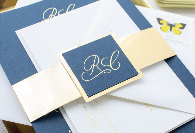 custom monogram tag for belly band