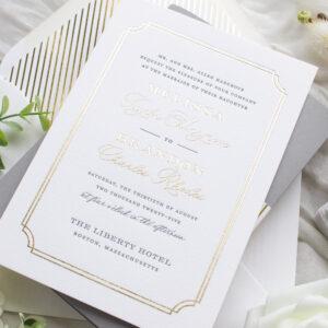 Foil Stamped Wedding Invitations | Proper