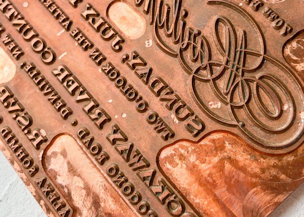 custom printing plate for foil stamping