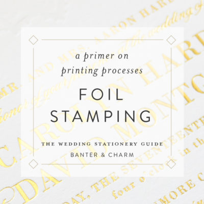 foil stamping for wedding invitations