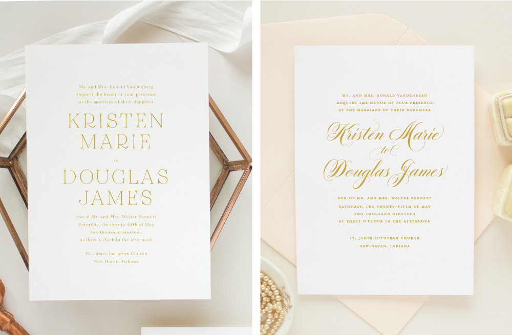 customizing wedding invitations
