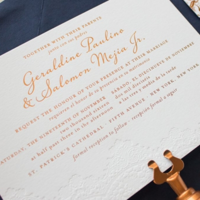bilingual wedding invite