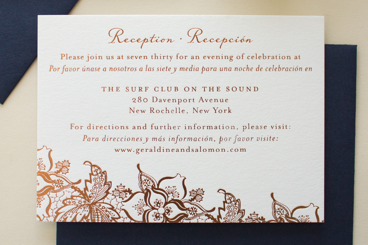 copper foil reception card