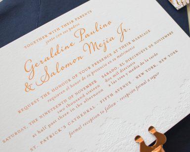 Harmonious | Copper Foil Stamp Wedding Invitations