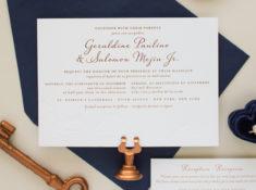 copper foil stamped wedding invitations