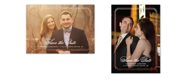 foil save the date cards