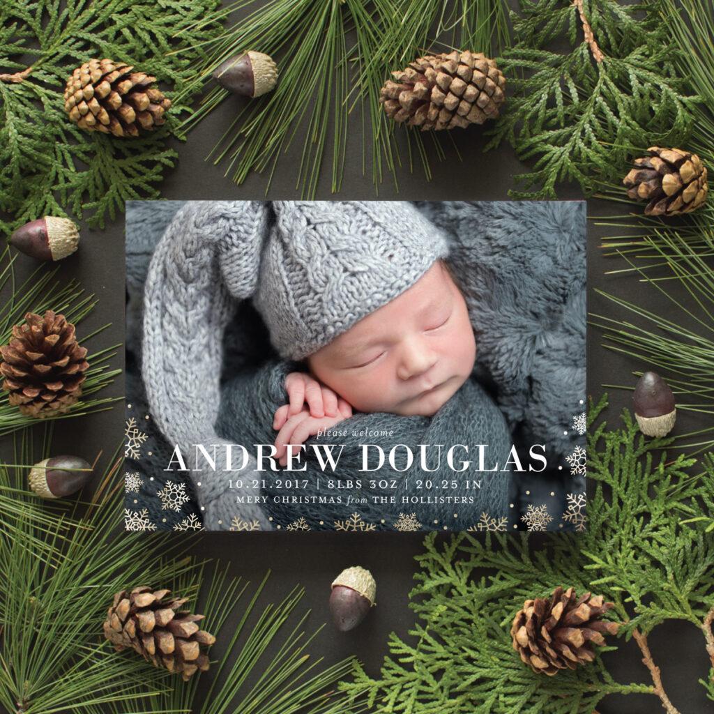 foil pressed birth announcements