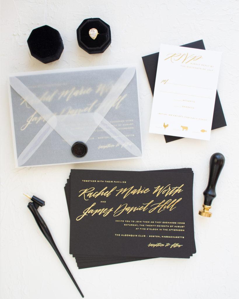 wax seal on vellum envelope
