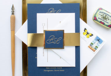 The dunes club upscale beach wedding invitations