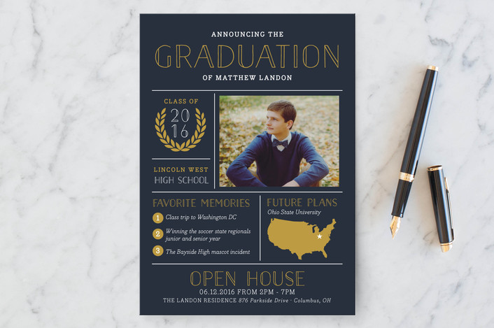 high school graduation announcement for Minted