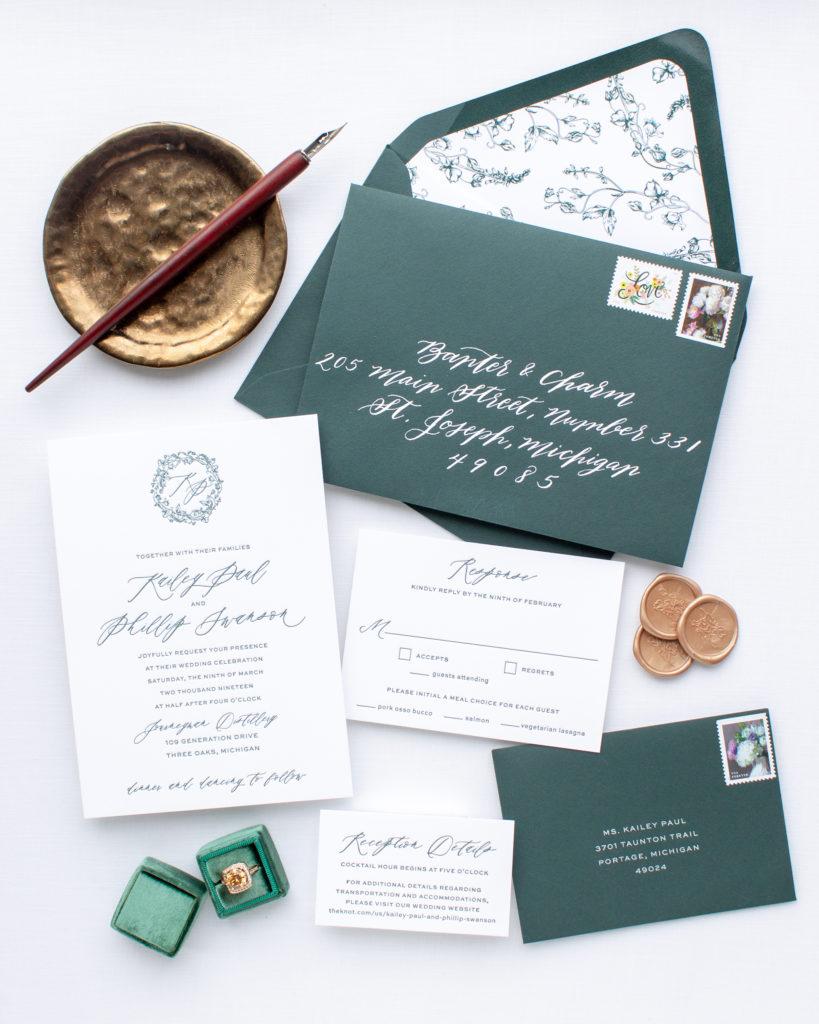 Invitations for Journeyman Distillery wedding