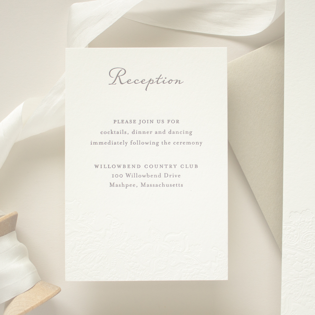 wedding reception insert