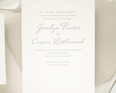 Harmony | Vintage Letterpress Invitations