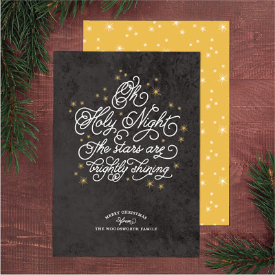 religious christmas greeting card by Banter & Charm