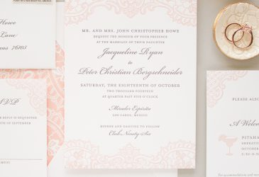 traditional letterpress wedding invitations