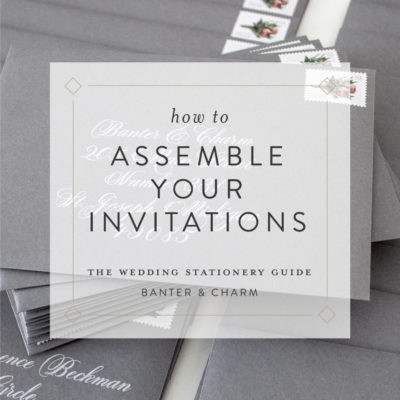 how to assemble your invitations