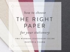 how to choose the right paper for your wedding invitations