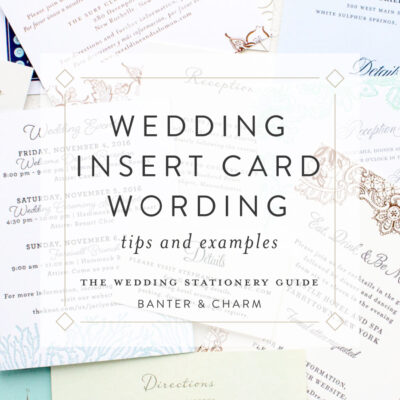 wedding insert card wording