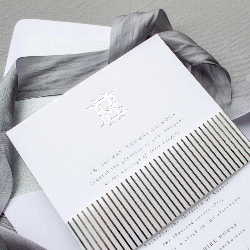 interlocking letter monogram invitations