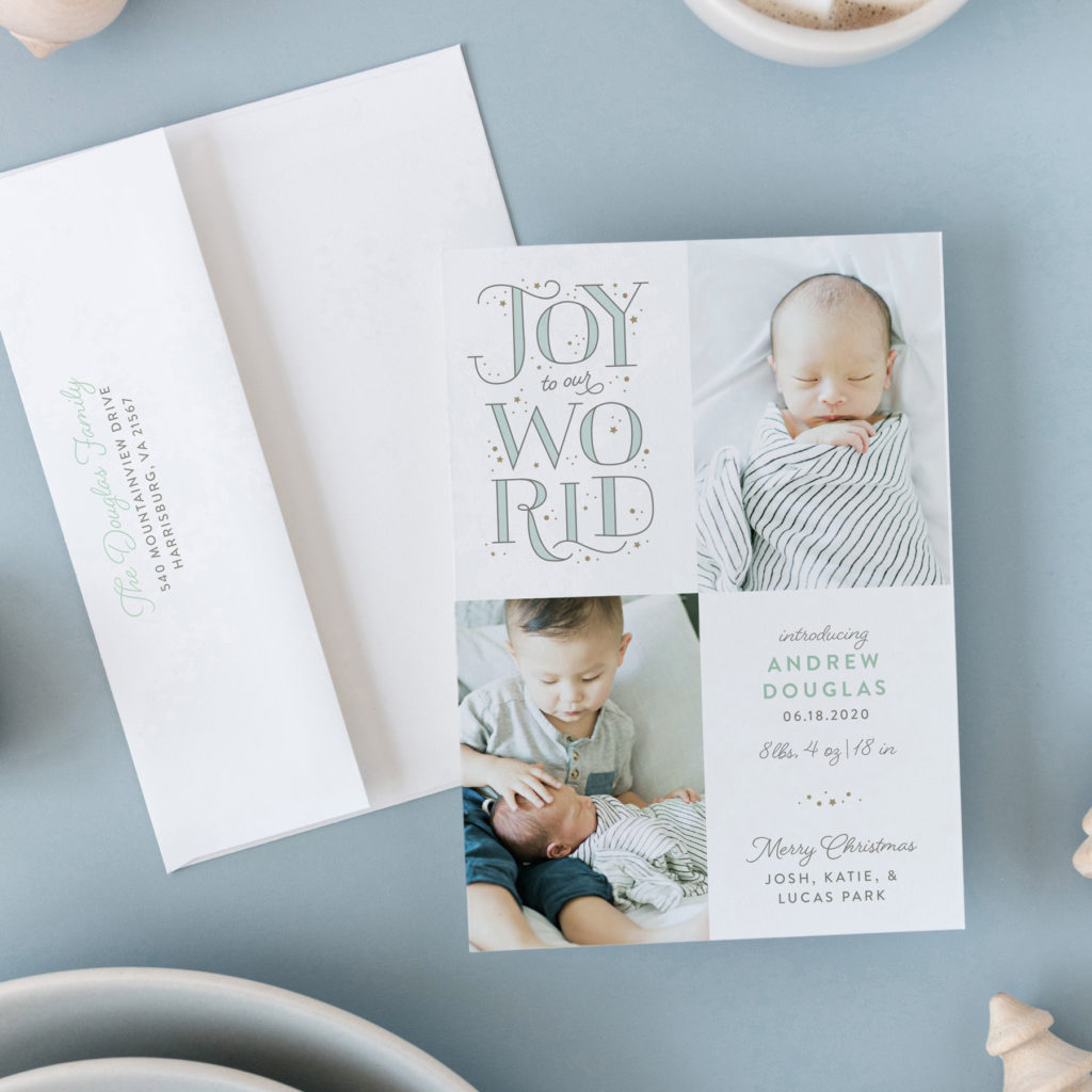 birth announcement christmas card