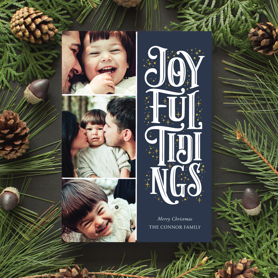 typographic christmas cards