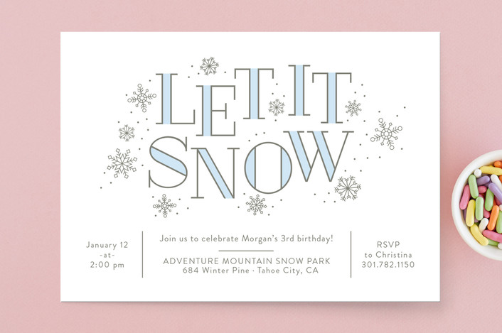 let it snow winter party invitations for minted banter and charm